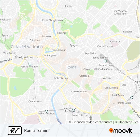 Mapa de RV de tren