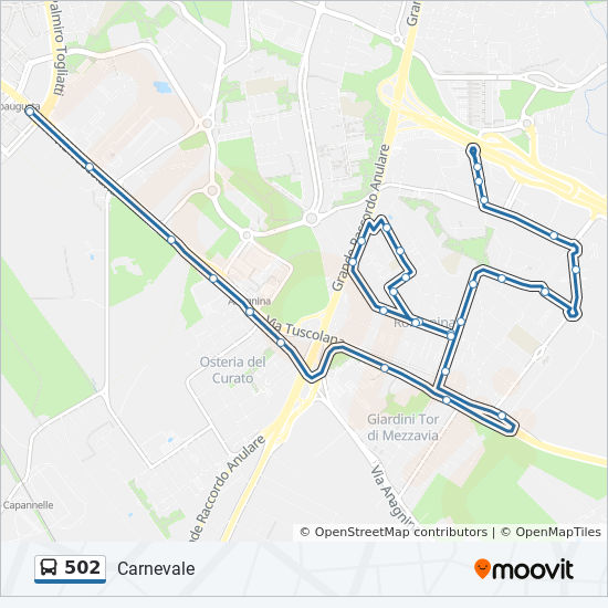 502 Route Time Schedules Stops Amp Maps Carnevale