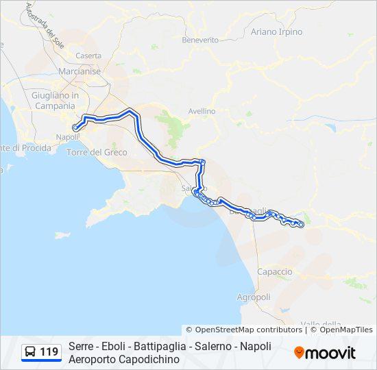 Linea 119 Orari Fermate E Mappe Serre Vittorio Veneto