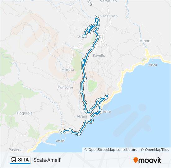 SITA Route: Time Schedules, Stops & Maps - Scala-Amalfi
