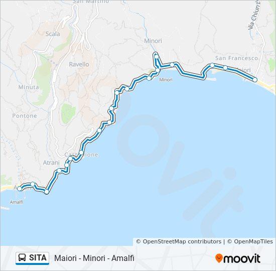 Maiori Italy Map.Sita Route Time Schedules Stops Maps Maiori Minori Amalfi