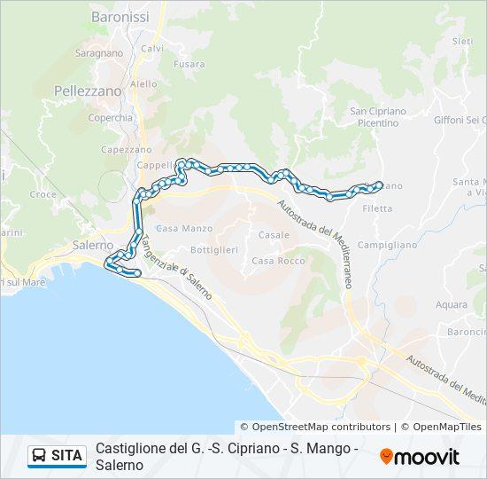 Rota Da Linha Sita Horarios Estacoes E Mapas Salerno S Mango