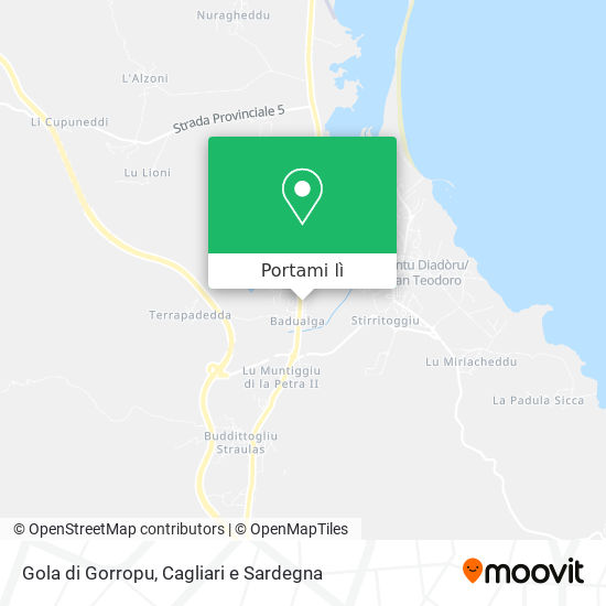 Cartina Di San Teodoro Sardegna.Come Arrivare A Gola Di Gorropu A San Teodoro Con Bus Moovit
