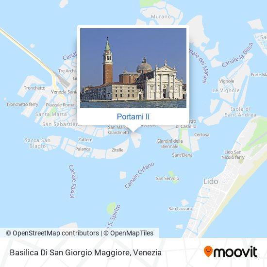 Mappa Basilica Di San Giorgio Maggiore