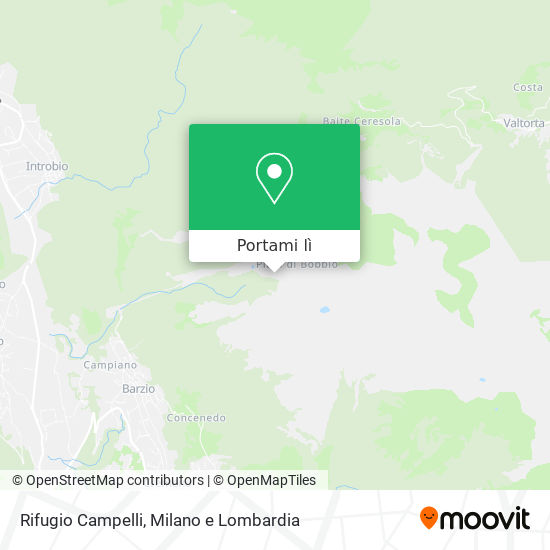 Mappa Rifugio Campelli