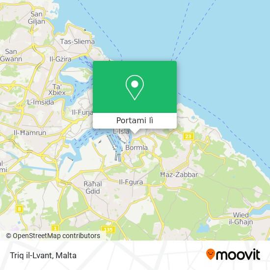 Mappa Triq il-Lvant