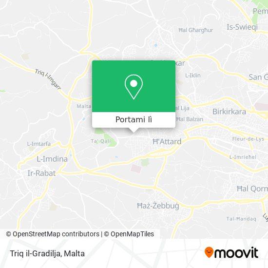 Mappa Triq il-Gradilja
