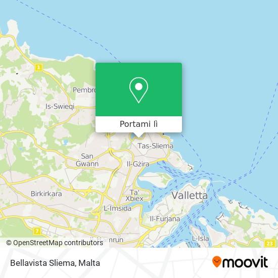 Mappa Bellavista Sliema