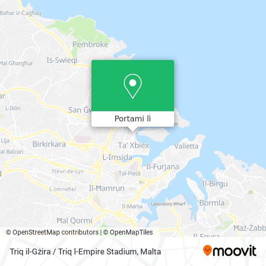 Mappa Triq il-Gżira / Triq l-Empire Stadium