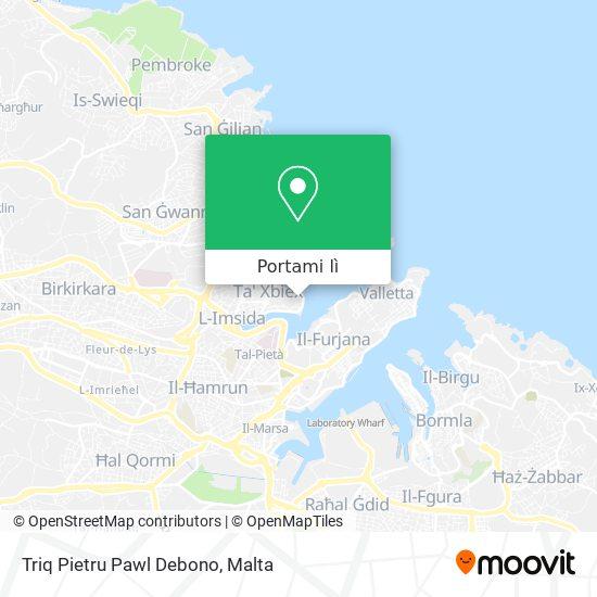 Mappa Triq Pietru Pawl Debono
