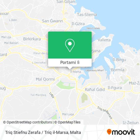 Mappa Triq Stiefnu Zerafa / Triq il-Marsa