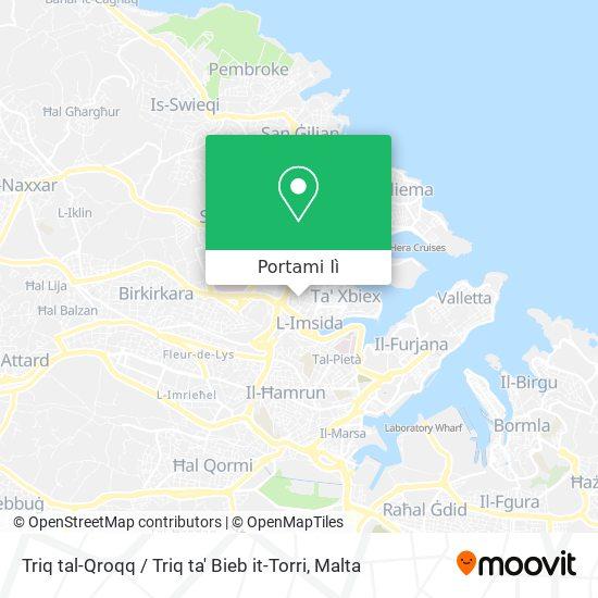 Mappa Triq tal-Qroqq / Triq ta' Bieb it-Torri
