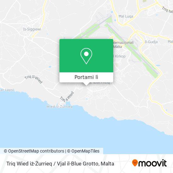 Mappa Triq Wied iż-Żurrieq / Vjal il-Blue Grotto