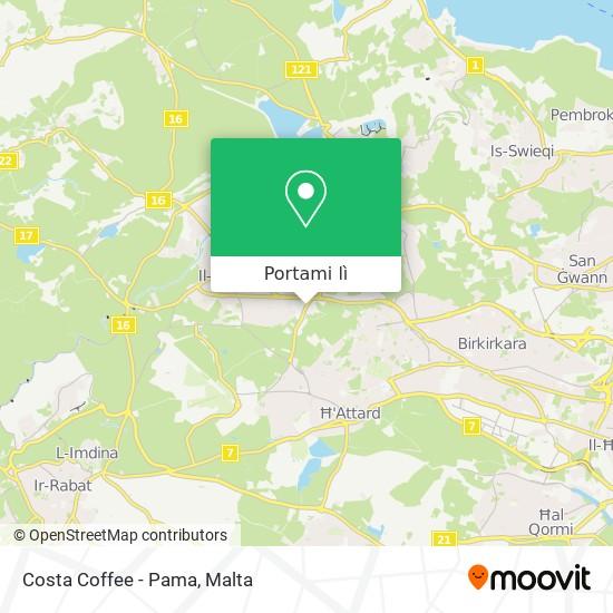 Mappa Costa Coffee - Pama