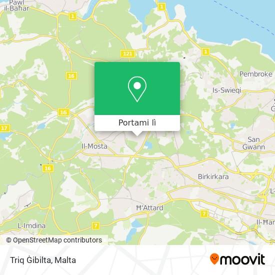 Mappa Triq Ġibilta