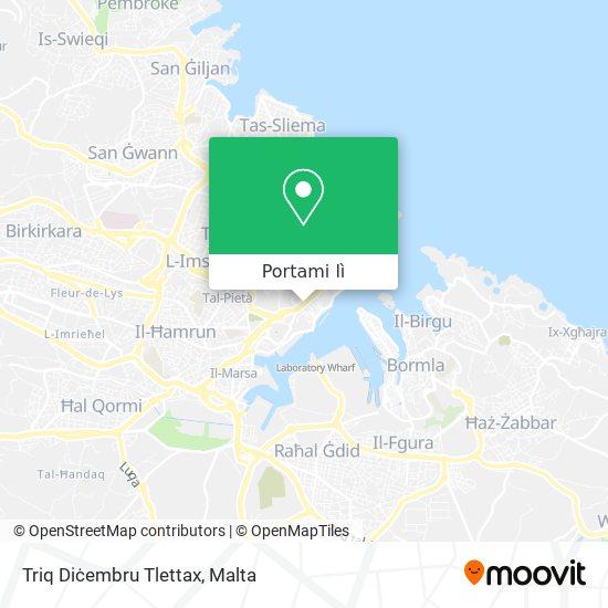 Mappa Triq Diċembru Tlettax