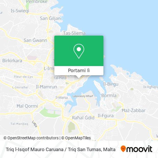 Mappa Triq l-Isqof Mauro Caruana / Triq San Tumas