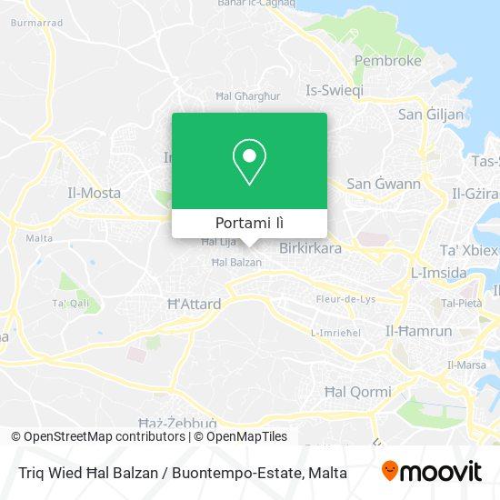 Mappa Triq Wied Ħal Balzan / Buontempo-Estate