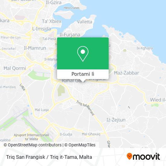 Mappa Triq San Franġisk / Triq it-Tama