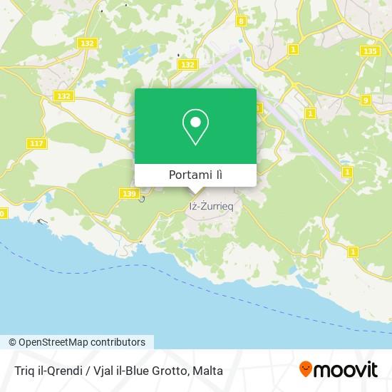 Mappa Triq il-Qrendi / Vjal il-Blue Grotto