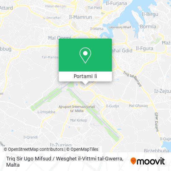 Mappa Triq Sir Ugo Mifsud / Wesghet il-Vittmi tal-Gwerra