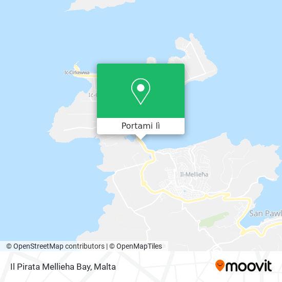 Mappa Il Pirata Mellieha Bay