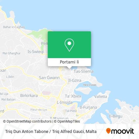 Mappa Triq Dun Anton Tabone / Triq Alfred Gauċi