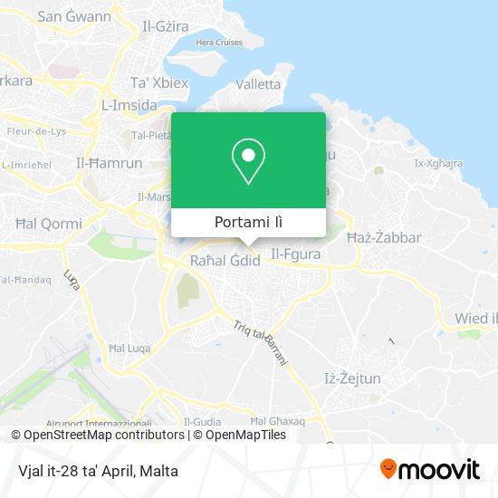 Mappa Vjal it-28 ta' April
