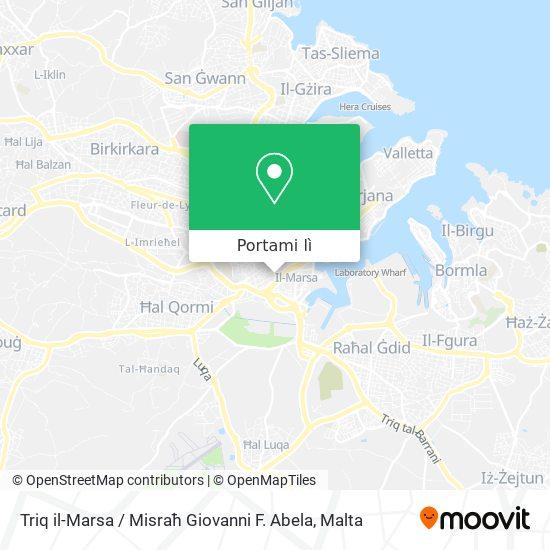 Mappa Triq il-Marsa / Misraħ Giovanni F. Abela