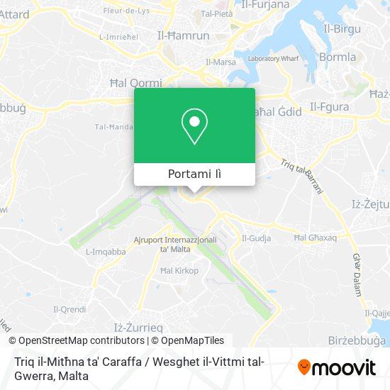 Mappa Triq il-Mitħna ta' Caraffa / Wesghet il-Vittmi tal-Gwerra