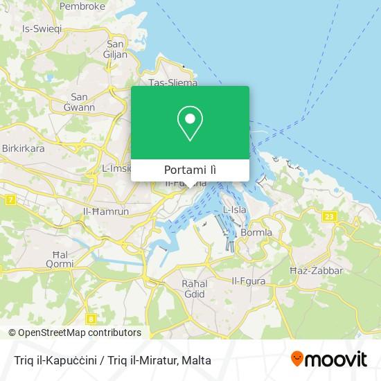 Mappa Triq il-Kapuċċini / Triq il-Miratur