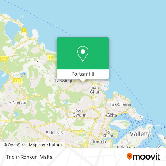 Mappa Triq ir-Ronkun