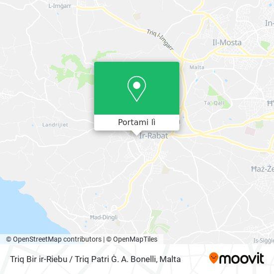 Mappa Triq Bir ir-Riebu / Triq Patri Ġ. A. Bonelli