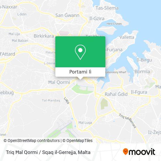 Mappa Triq Ħal Qormi / Sqaq il-Gerrejja