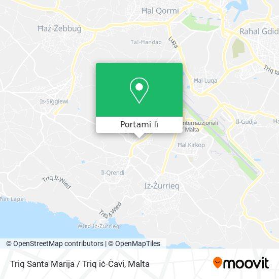 Mappa Triq Santa Marija / Triq iċ-Ċavi