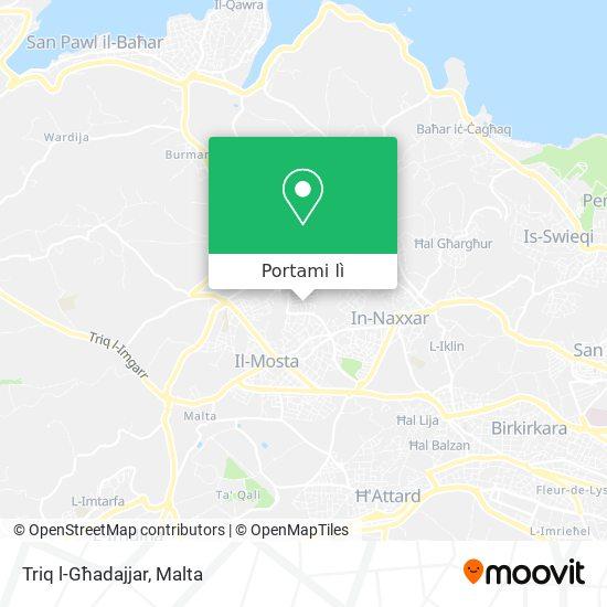 Mappa Triq l-Għadajjar