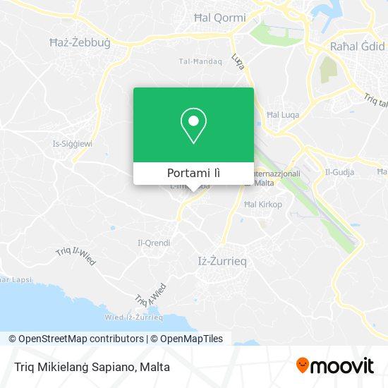 Mappa Triq Mikielanġ Sapiano