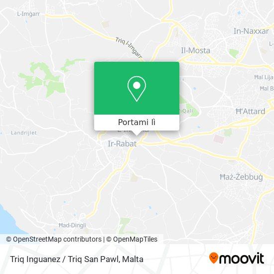 Mappa Triq Inguanez / Triq San Pawl