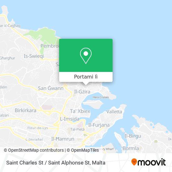 Mappa Saint Charles St / Saint Alphonse St