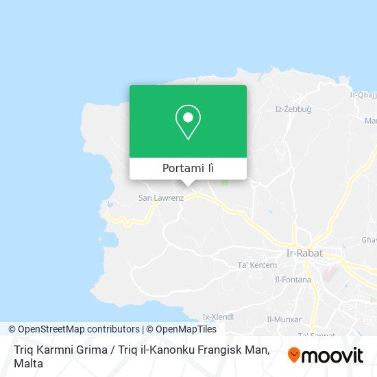Mappa Triq Karmni Grima / Triq il-Kanonku Frangisk Man