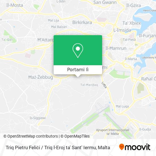 Mappa Triq Pietru Feliċi / Triq l-Eroj ta' Sant' Iermu