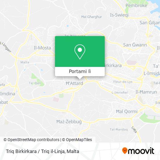 Mappa Triq Birkirkara / Triq il-Linja