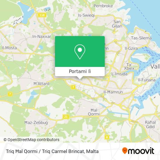 Mappa Triq Ħal Qormi / Triq Carmel Brincat