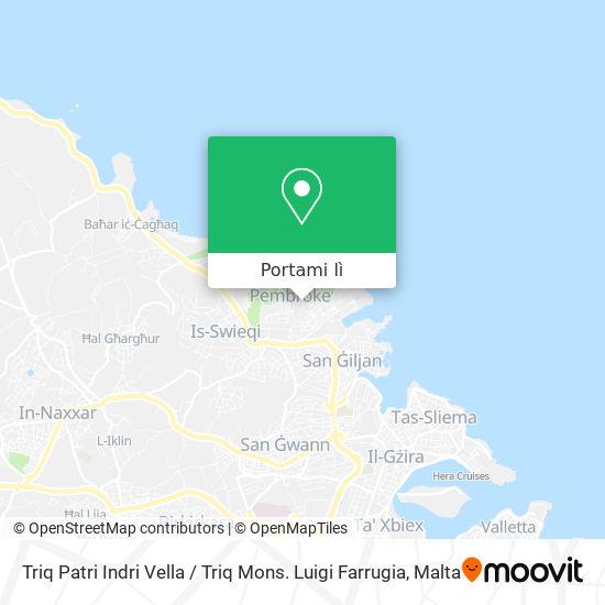 Mappa Triq Patri Indri Vella / Triq Mons. Luigi Farrugia
