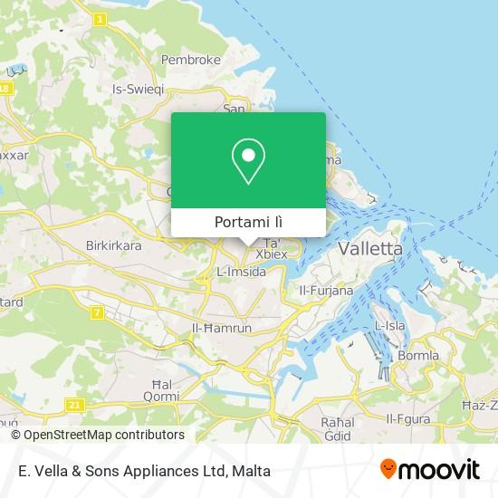 Mappa E. Vella & Sons Appliances Ltd