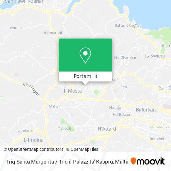 Mappa Triq Santa Margerita / Triq il-Palazz ta' Kaspru