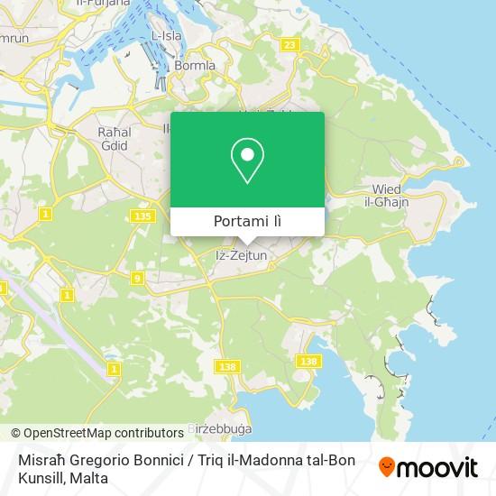 Mappa Misraħ Gregorio Bonnici / Triq il-Madonna tal-Bon Kunsill