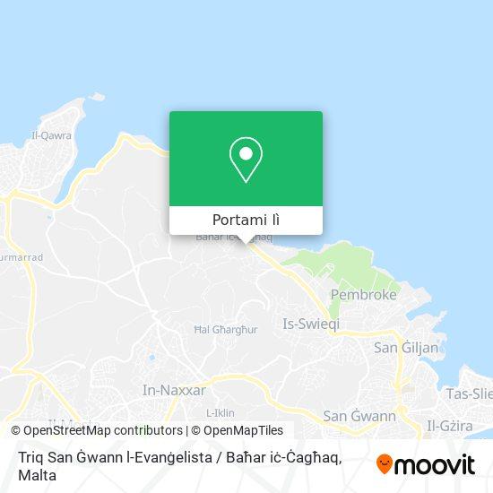 Mappa Triq San Ġwann l-Evanġelista / Baħar iċ-Ċagħaq