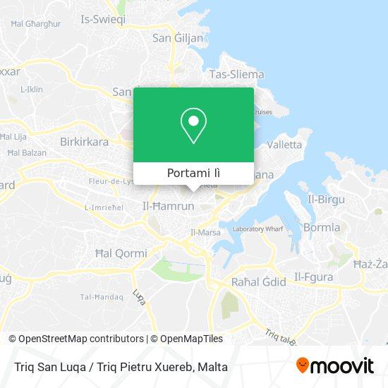 Mappa Triq San Luqa / Triq Pietru Xuereb
