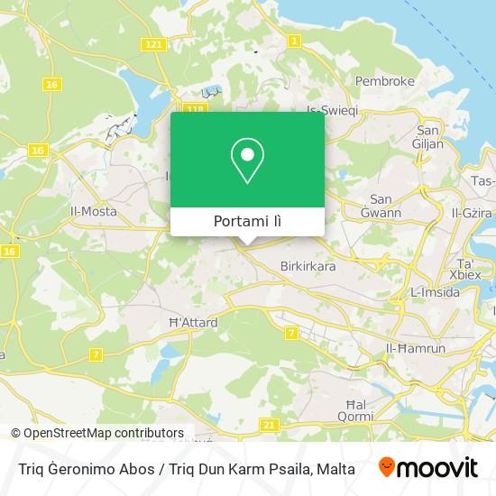 Mappa Triq Ġeronimo Abos / Triq Dun Karm Psaila